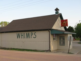 Whimps Burbank, South Dakota restaurant - home of excellent catfish and home made coleslaw.